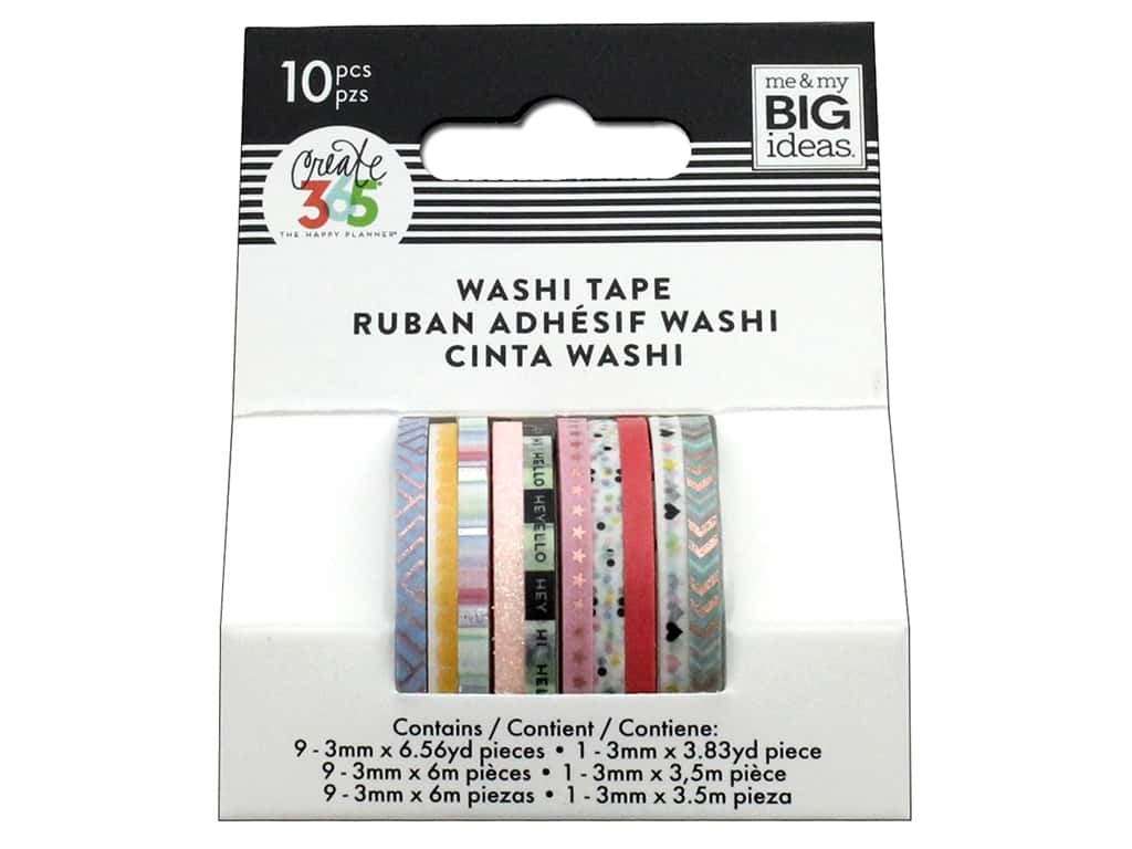 Me&My Big Ideas Collection Create 365 Happy Planner Washi Tape Mini Pastel