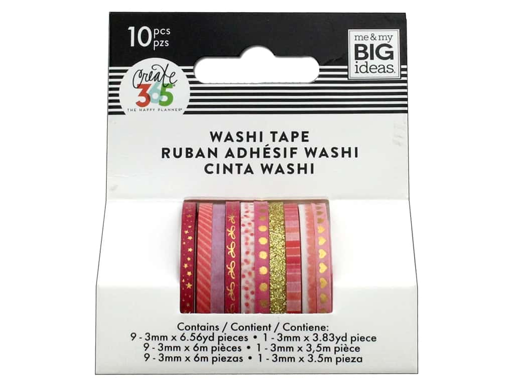 Me&My Big Ideas Collection Create 365 Happy Planner Washi Tape Mini Pink Hues