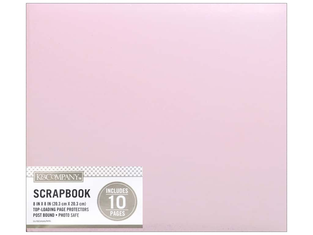 K & Company 8 x 8 in. Scrapbook Album Basic Faux Leather Pink