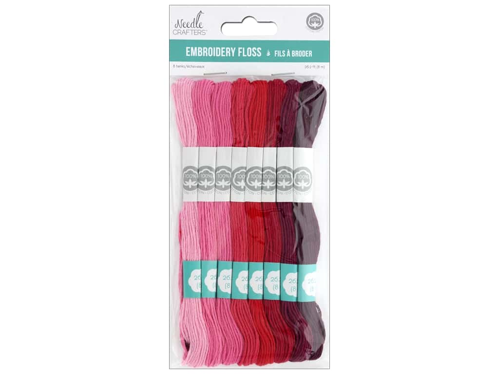 MultiCraft Cord Needlecrafter Embroidery Floss 6 Strand Rouge Tint