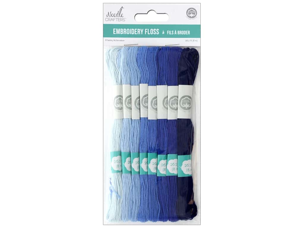 MultiCraft Cord Needlecrafter Embroidery Floss 6 Strand Blue Heaven