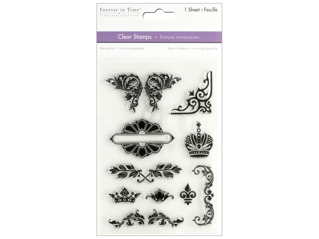 Multicraft Stamp Clear Noble Floral