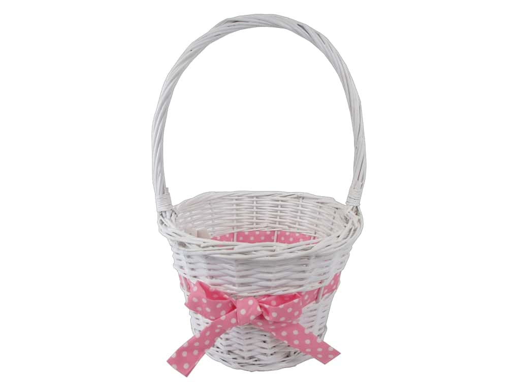 Darice Basket Easter with Pink Bow