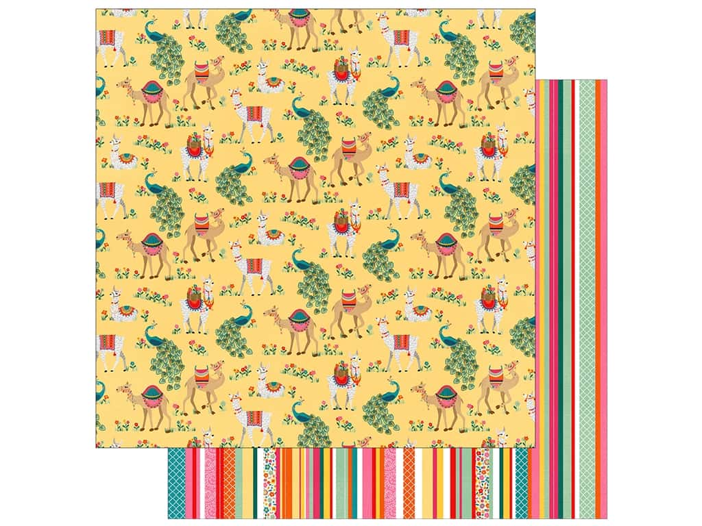 Photo Play Paprika Paper 12 in. x 12 in. Llama Drama (25 pieces)