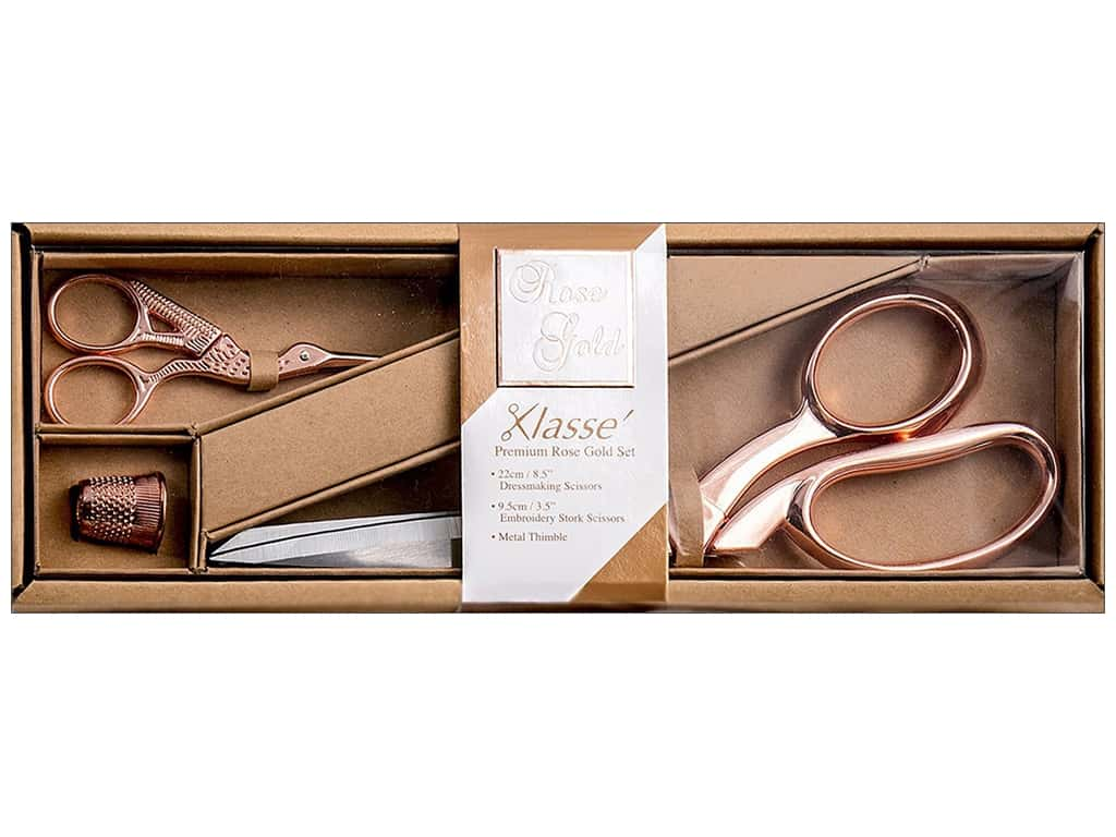 Klasse Premium Scissor Set 3 pc. Rose Gold
