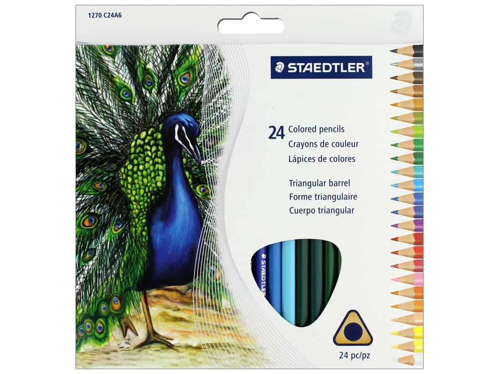 Staedtler Colored Pencil Triangular 24 pc (6 sets)