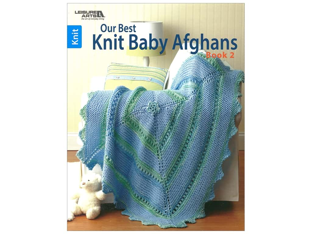 Leisure Arts Our Best Knit Baby Afghans 2 Book