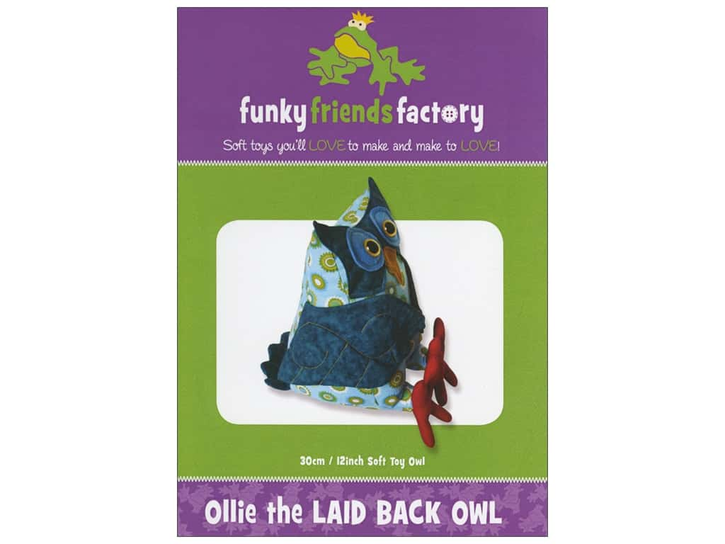 Funky Friends Factory Ollie The Laid Back Owl Pattern