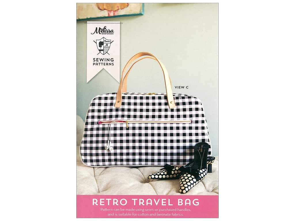 Melissa Mortenson Retro Travel Bag Pattern