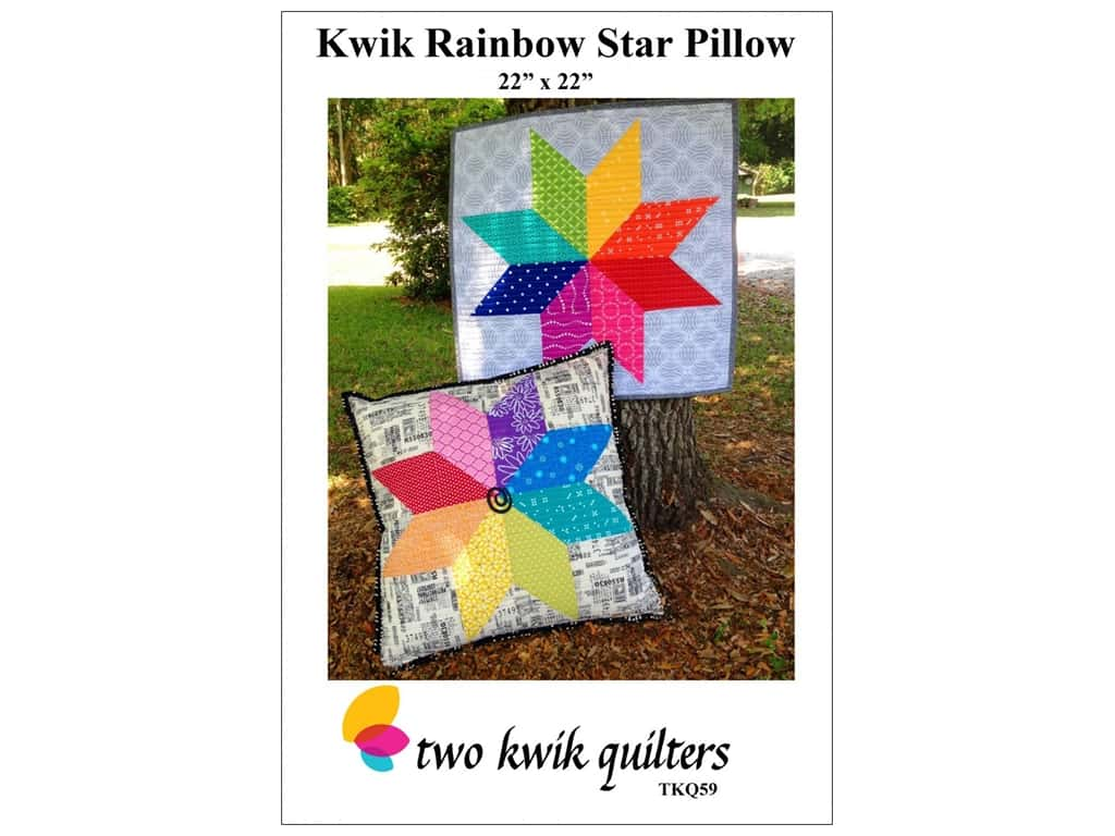 Two Kwik Quilters Kwik Rainbow Star Pillow Pattern