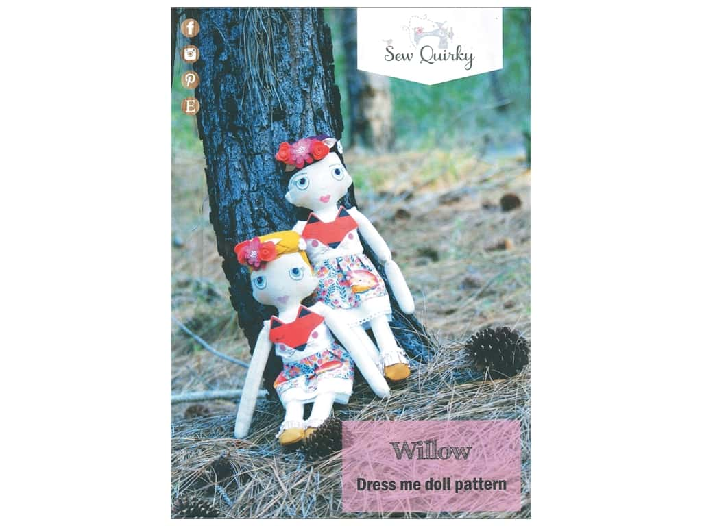 Sew Quirky Willow Dress Me Doll Pattern
