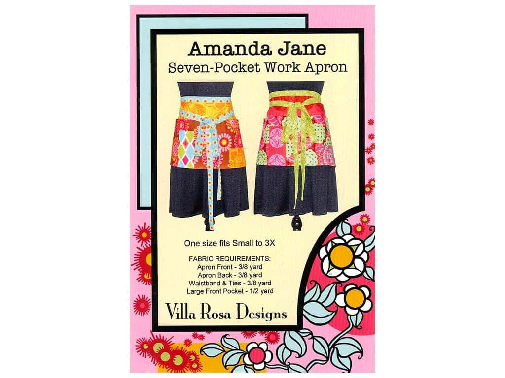 Villa Rosa Designs Amanda Jane Seven Pocket Work Apron Pattern