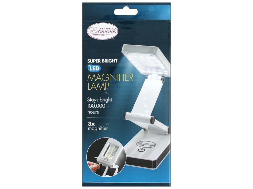 F.A.Edmunds Super Bright Portable LED Lamp with Magnifier