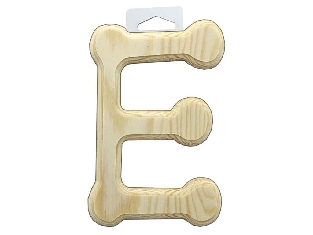 Multicraft Wood Letter Bevel Cut 6 in. Natural E