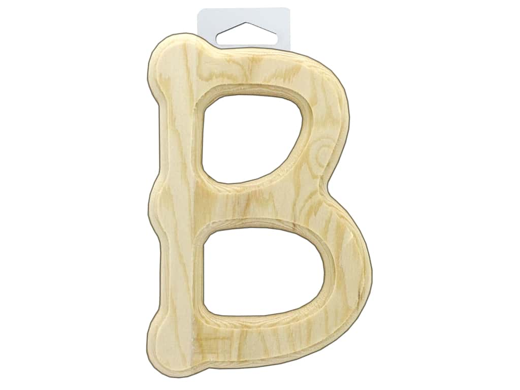Multicraft Wood Letter Bevel Cut 6 in. Natural B