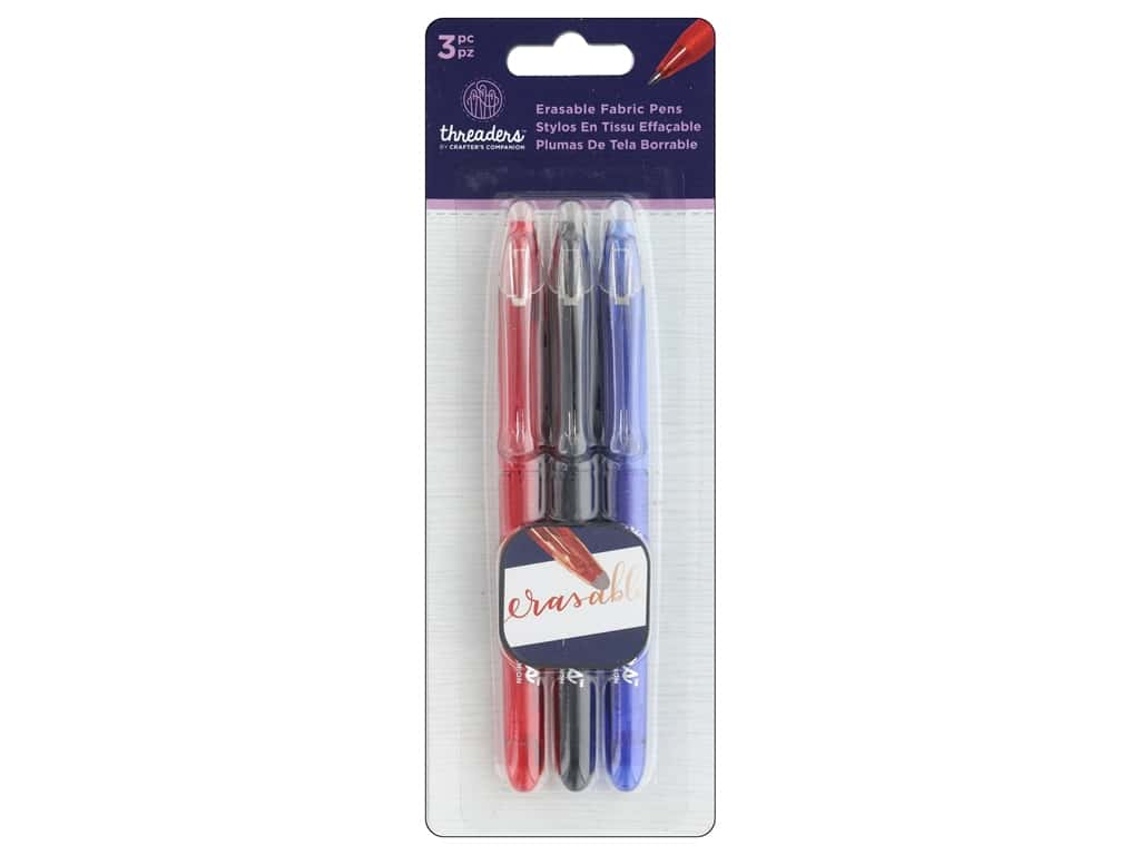 Crafter's Companion Threaders Erasable Fabric Pens 3 pc.