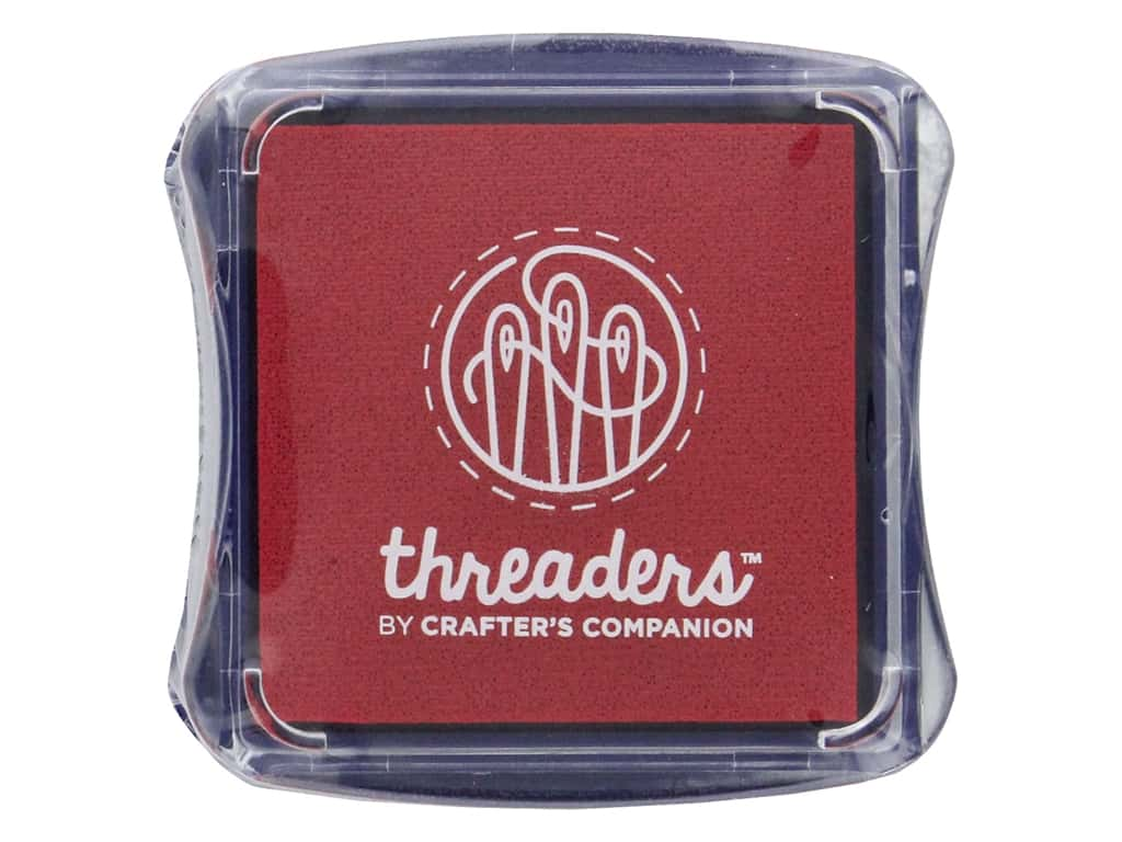 Crafter's Companion Threaders Fabric Ink Pad Red