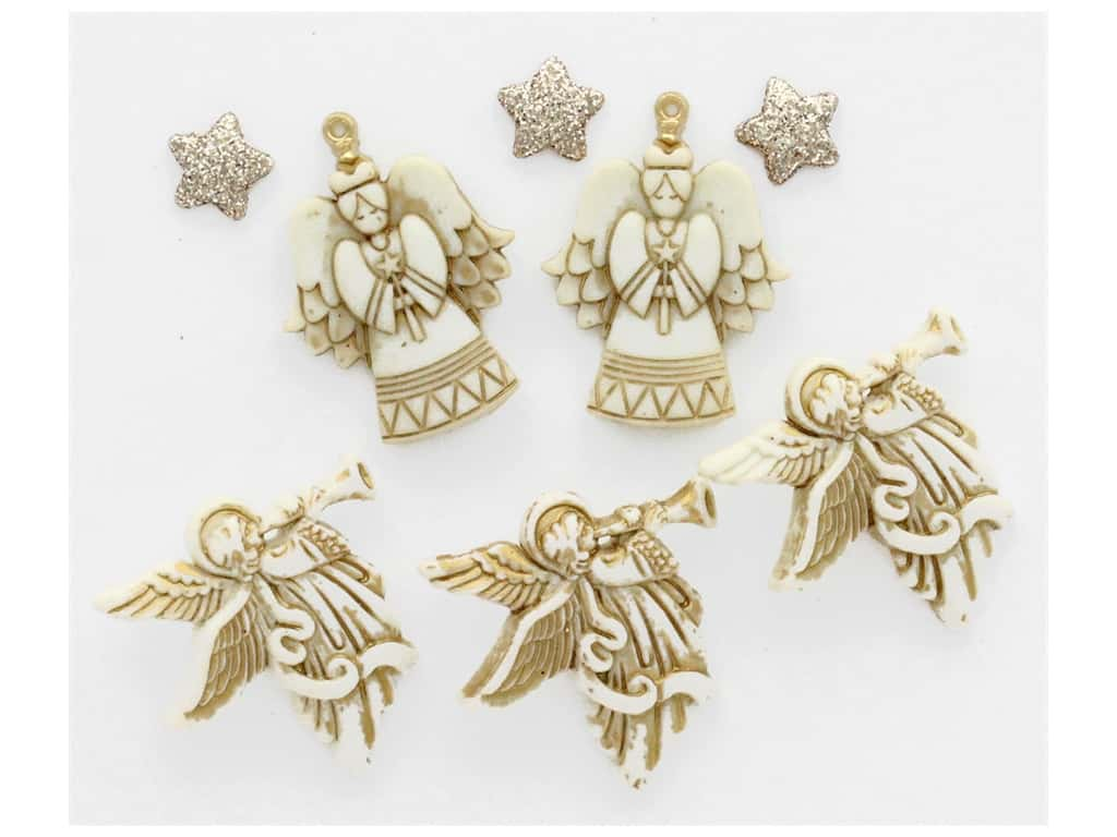 Jesse James Embellishments Christmas Glitter Angels