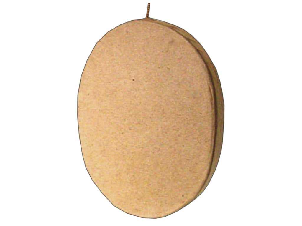 PA Paper Mache Flat Oval Ornament 4 1/8 in.