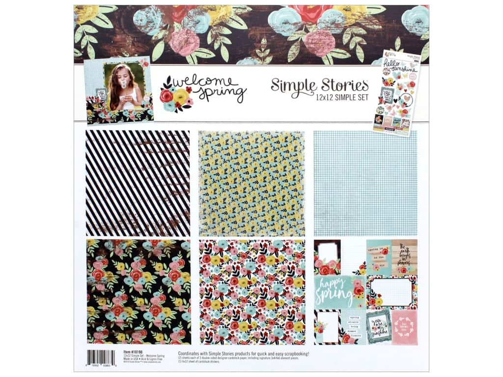 Simple Stories Collection Welcome Spring Collection Kit 12 in. x 12 in.