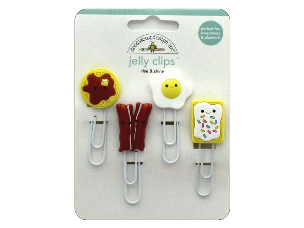 Doodlebug Collection So Punny Jelly Clips Rise & Shine