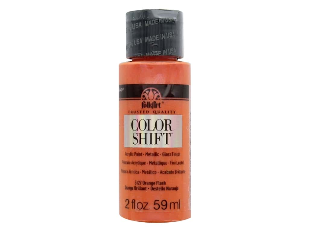Plaid Folkart Color Shift Paint 2 oz. Orange Flash