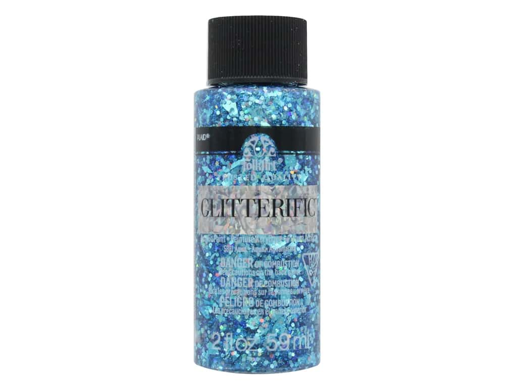 Plaid FolkArt Glitterific Paint 2 oz. Aqua