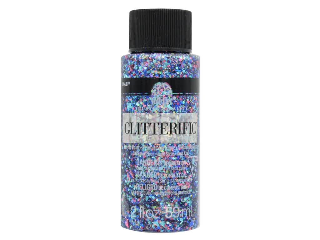Plaid FolkArt Glitterific Paint 2 oz. Blue Moon
