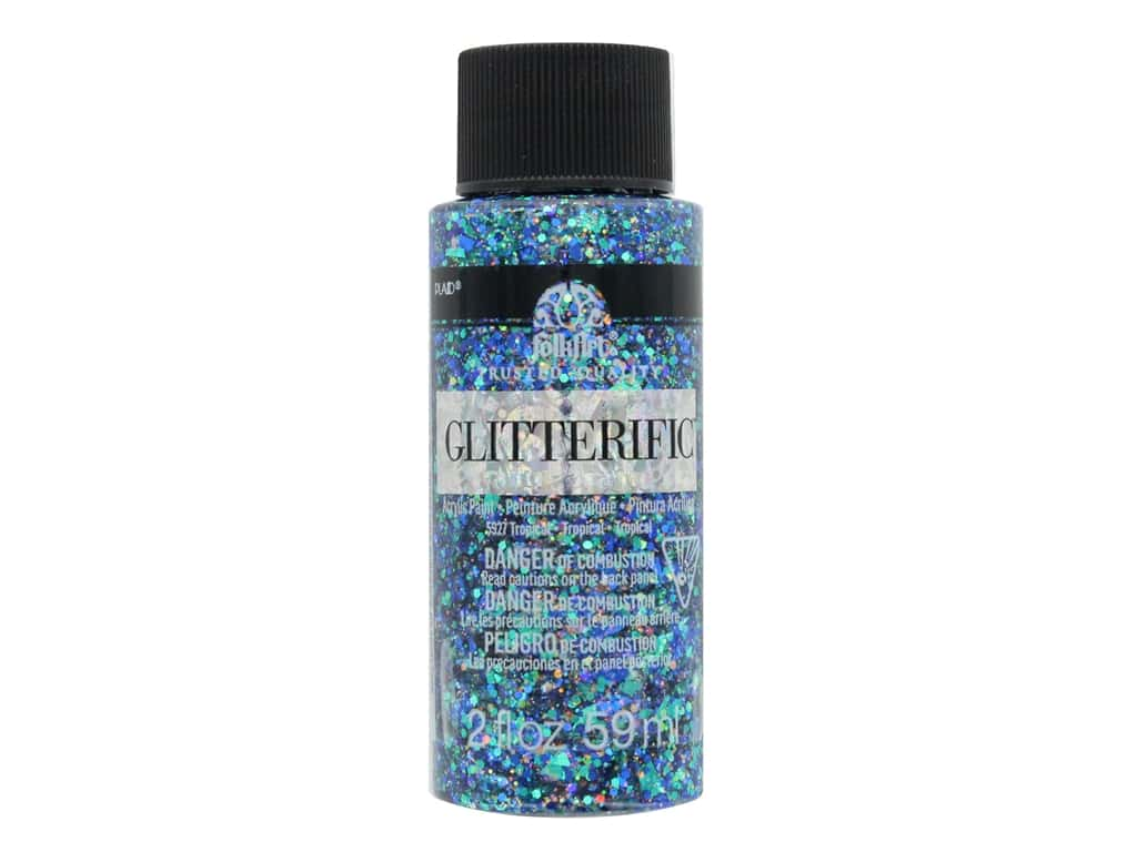 Plaid FolkArt Glitterific Paint 2 oz. Tropical