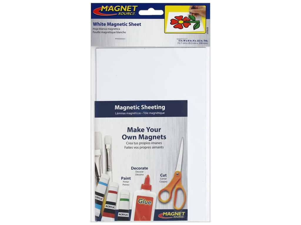 The Magnet Source Flexible Magnetic Sheeting 5 x 8 in. White