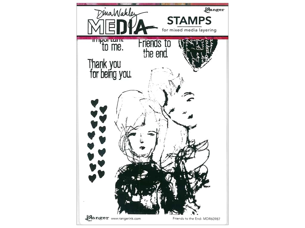 Ranger Stamp Dina Wakley Media Cling Friends To The End