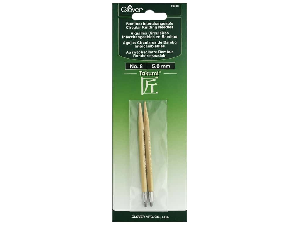 Clover Interchangeable Circular Knitting Needle Size 8