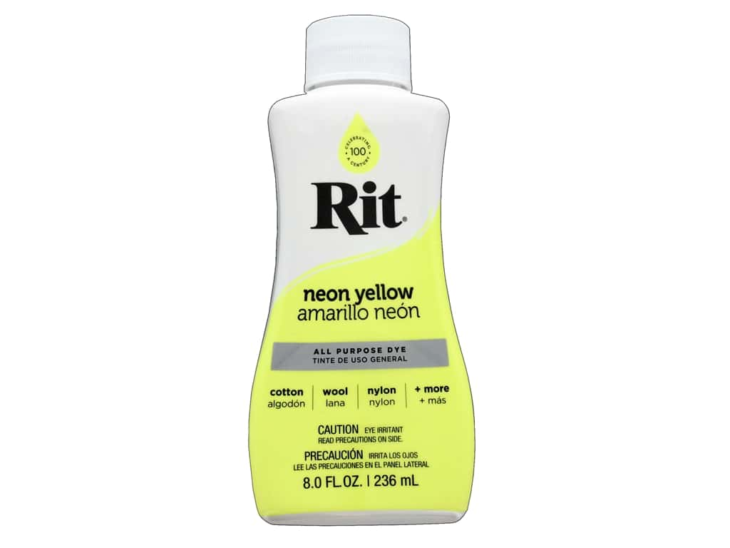 Rit Dye Liquid 8 fluid oz Neon Yellow