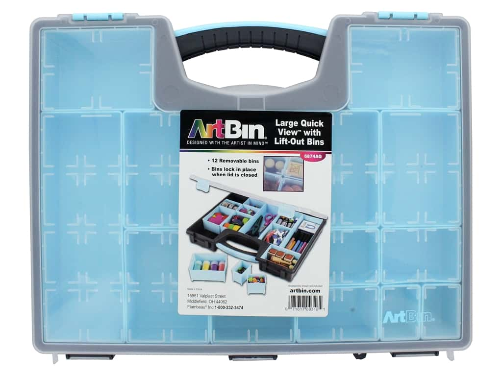 ArtBin Quick View Carrying Case With Lift Out Bins Large