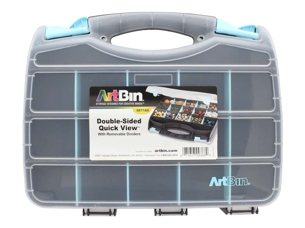 ArtBin Quick View Carrying Case 12.5 in. Double Sided Aqua
