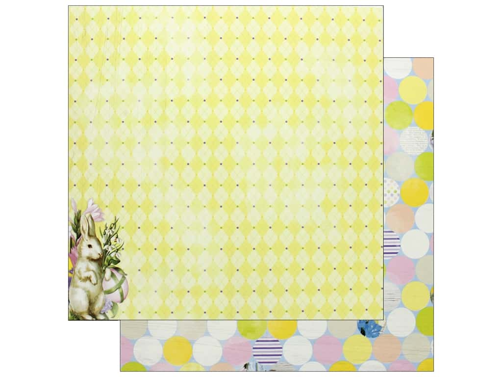 "Bo Bunny Collection Cottontail Paper 12""x 12"" Fun (25 pieces)"