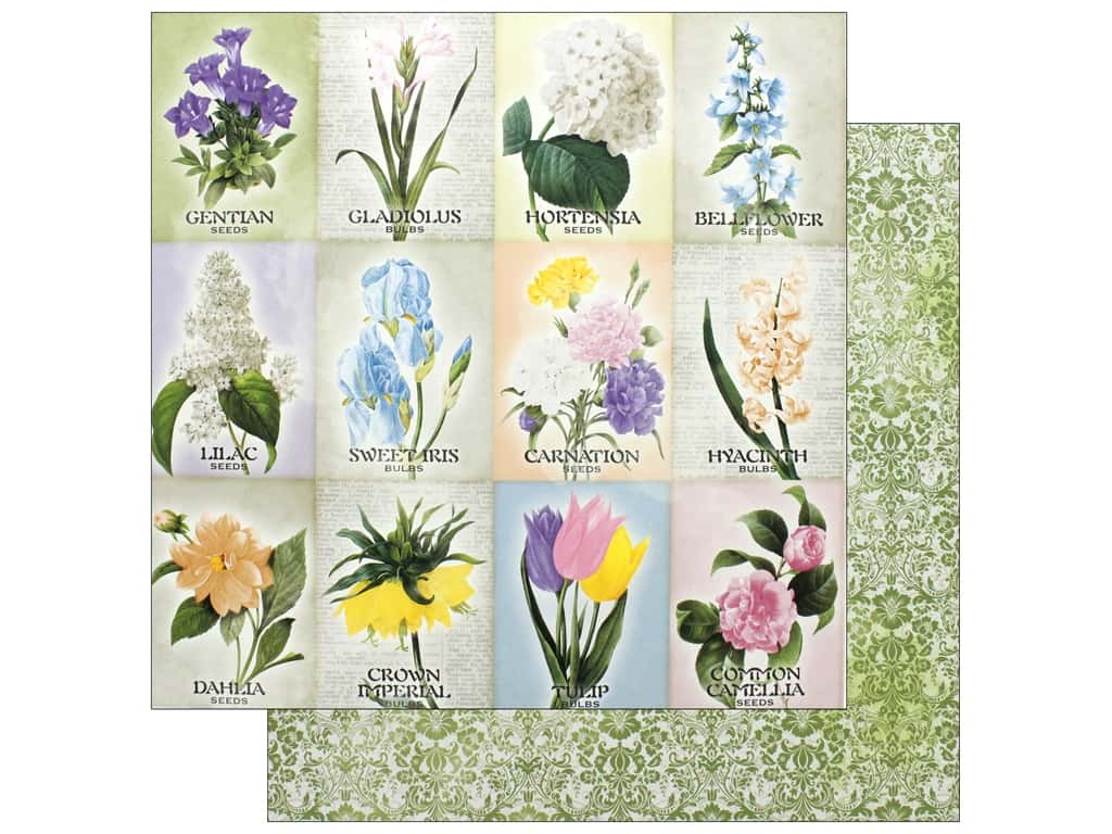 Bo Bunny Collection Cottontail Paper 12 in. x 12 in.  Springtime (25 pieces)