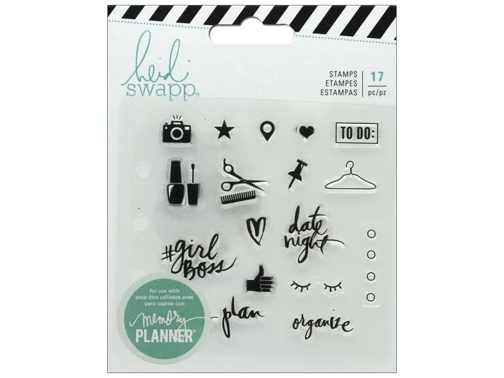 American Crafts Heidi Swapp Collection Fresh Start Memory Planner Clear Stamp Everyday