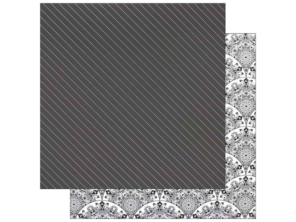 Bo Bunny Collection Black Tie Affair Paper 12 in. x 12 in.  Midnight (25 pieces)