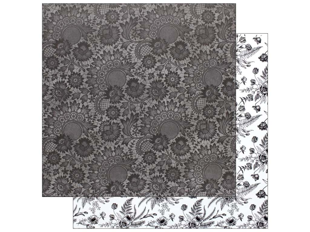 Bo Bunny Collection Black Tie Affair Paper  12 in. x 12 in.   Lace (25 pieces)