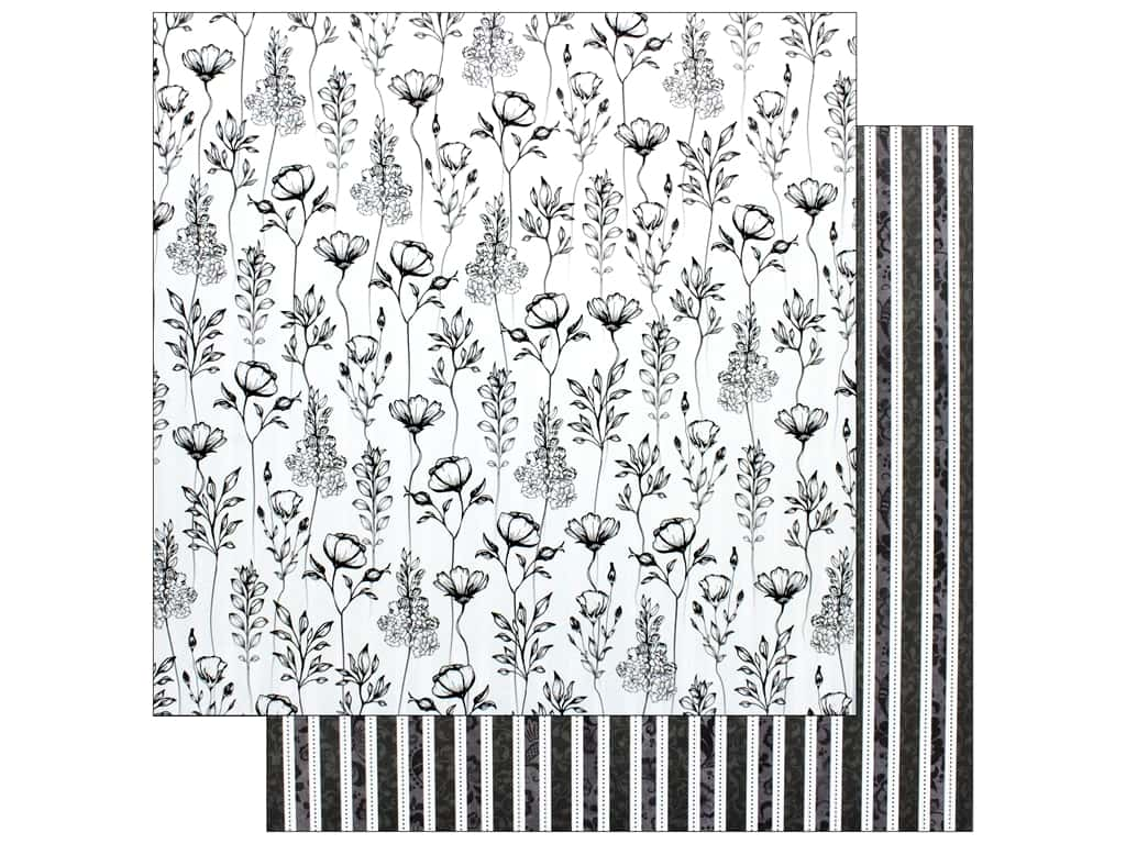 Bo Bunny Collection Black Tie Affair Paper 12 in. x 12 in.  Glamour (25 pieces)
