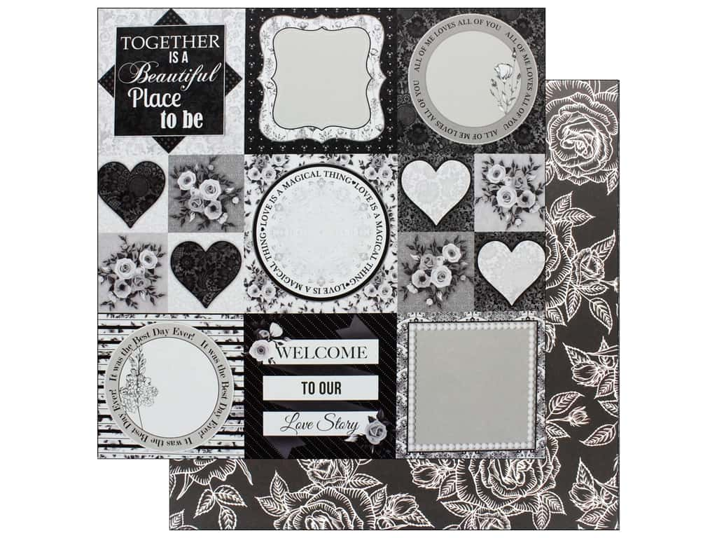 Bo Bunny Collection Black Tie Affair Paper 12 in. x 12 in.  Formal (25 pieces)