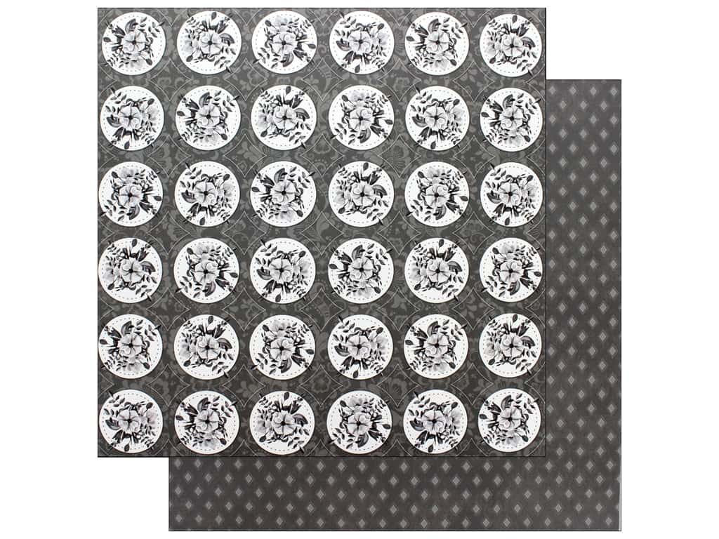 Bo Bunny Collection Black Tie Affair Paper 12 in. x 12 in. Lovely (25 pieces)