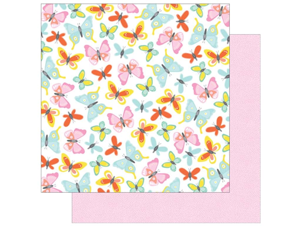 American Crafts Collection Dear Lizzy Stay Colorful Paper 12 in. X 12 in. Farrah Forever (25 pieces)