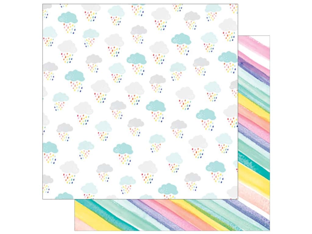 American Crafts Dear Lizzy 12 x 12 in. Paper Stay Colorful Awesome Possum (25 pieces)