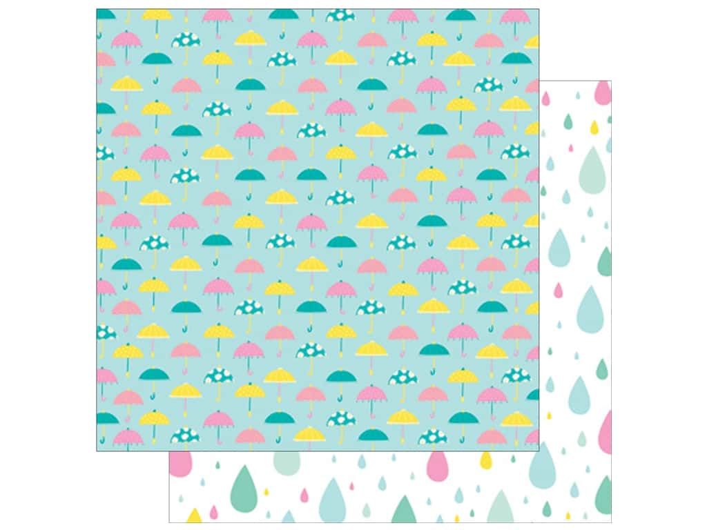 American Crafts Collection Dear Lizzy Stay Colorful Paper 12 in. x 12 in. Neato (25 pieces)