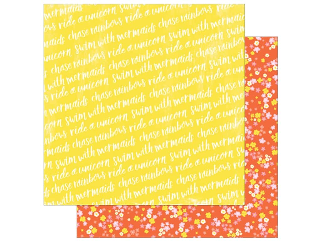 American Crafts Collection Dear Lizzy Stay Colorful Paper 12 in. x 12 in. Phychedelic (25 pieces)