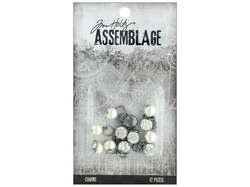 Tim Holtz Assemblage Charms Diamonds And Pearls