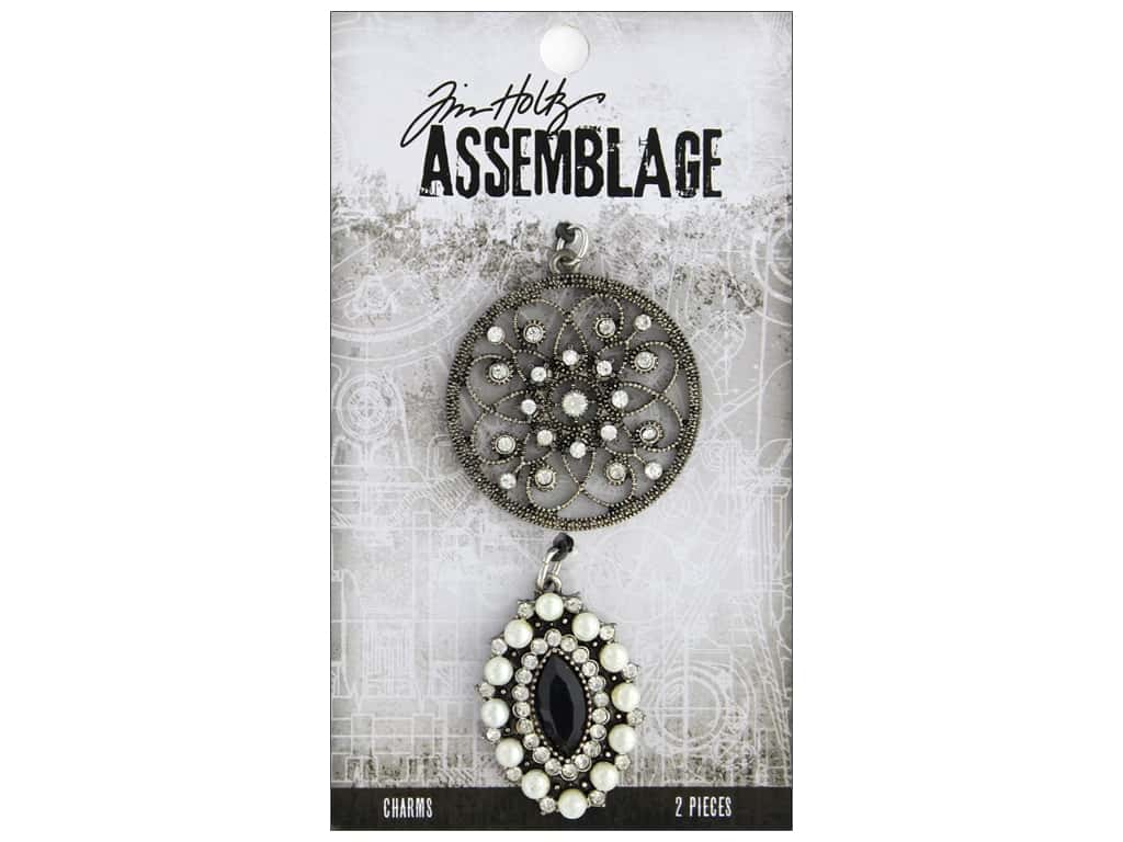 Tim Holtz Assemblage Charms Medallion And Cat Eye