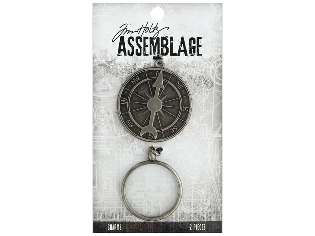 Tim Holtz Assemblage Charms Compass And Monocle